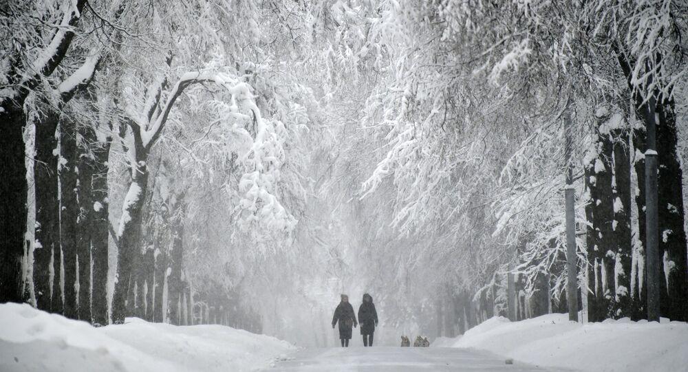 Neige à Moscou