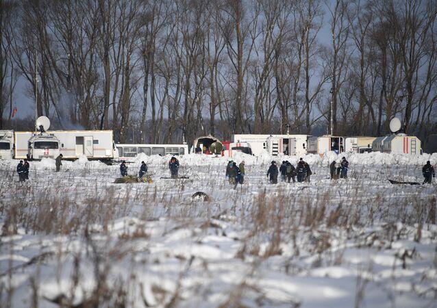 Lieu du crash de l'An-148 de Saratov Airlines dans la région de Moscou