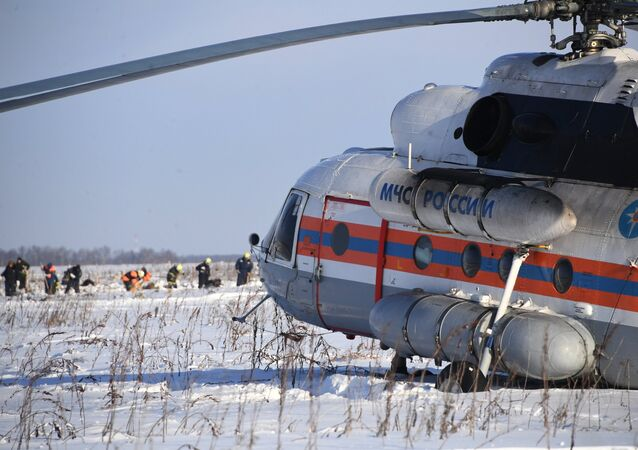 Sur les lieux du crash de l'An-148