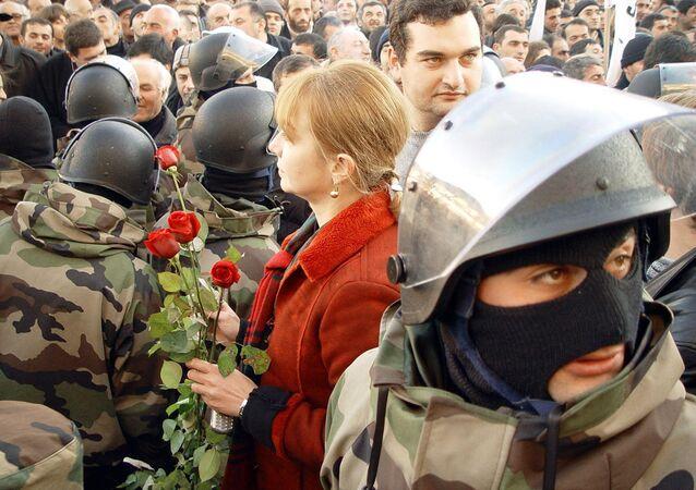Révolution de Rose en Géorgie, 2003.