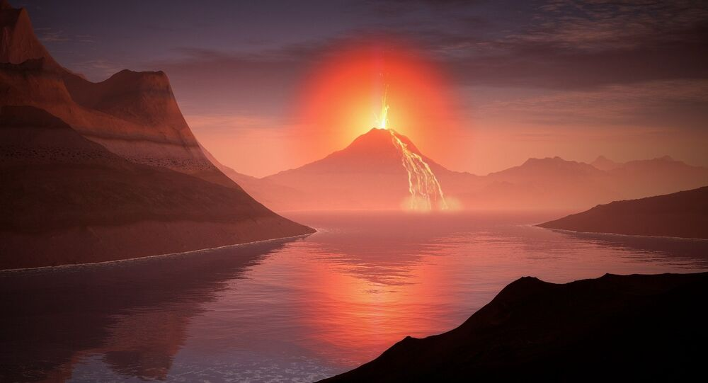 Un volcan. Image d'illustration