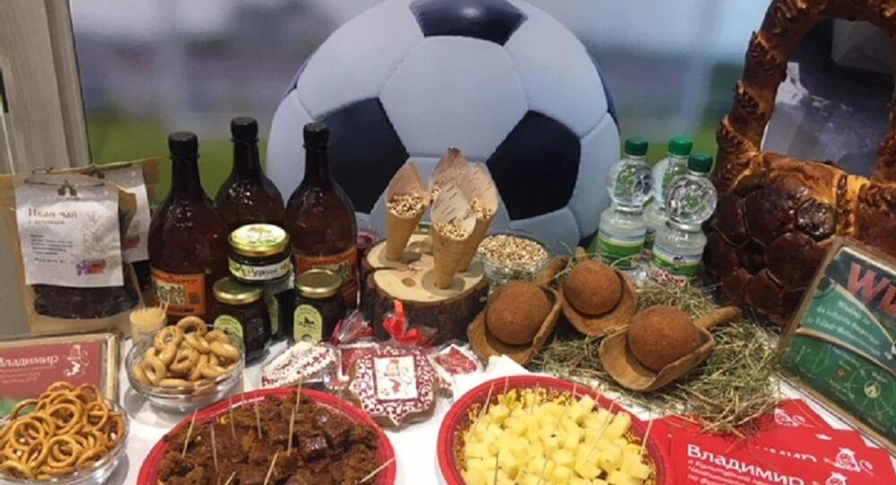 Menu footballistique spécial créé à Vladimir pour le Mondial 2018