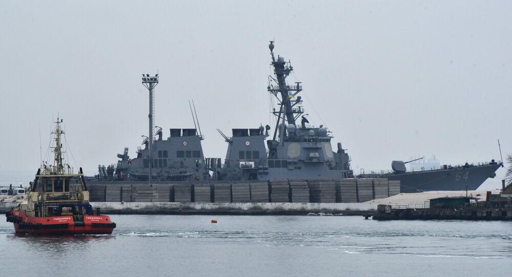 Le destroyer américain Carney