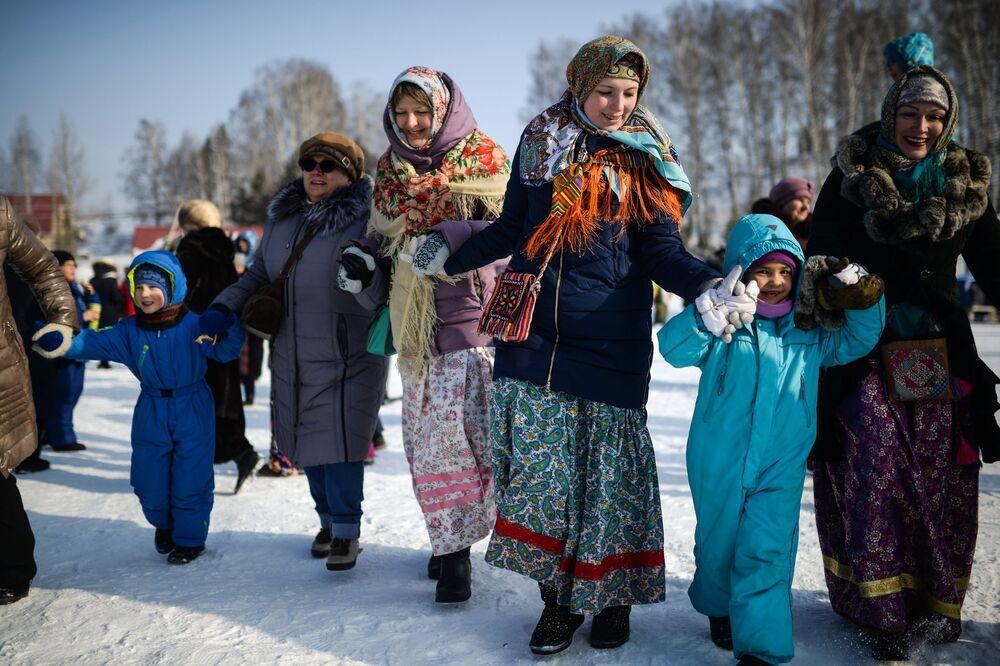 Célébration de Maslenitsa en Russie
