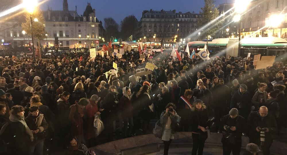 Manifestation contre la loi asile-immigration à Paris, 21 février 2018