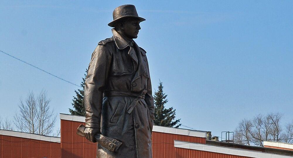 Monument à l'agent de renseignement soviétique Iskhak Akhmerov à Tcheliabinsk