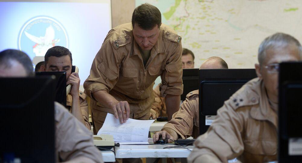 Les militaires russes du Centre pour la réconciliation des parties en conflit en Syrie