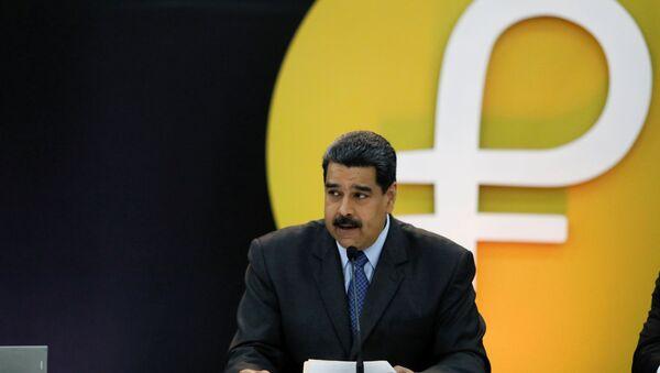 Nicolas Maduro lors la cérémonie du lancement du Petro - Sputnik France