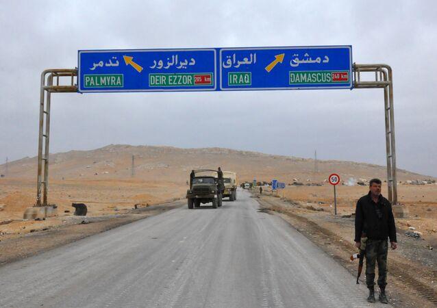Routes Palmyre-Deir ez-Zor et Damas-Irak