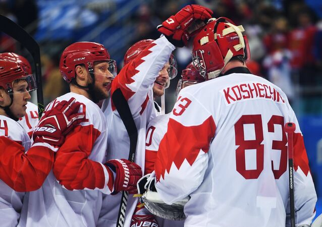 Célébration de la victoire sur la République tchèque en demi-finale du tournoi olympique
