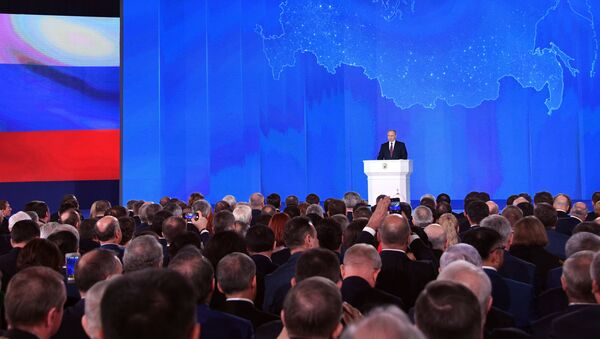 Vladimir Poutine lors du message annuel à l'Assemblée fédérale - Sputnik France