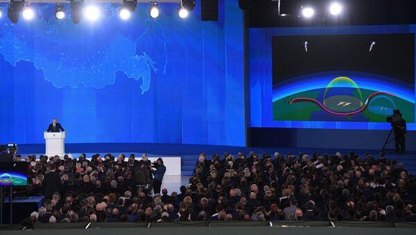 Ежегодное послание президента РФ В. Путина Федеральному Собранию - Sputnik France