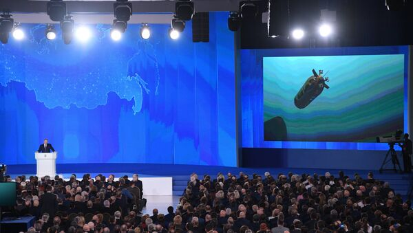 Vladimir Poutine présente un nouveau drone sous-marin à l'Assemblée fédérale russe - Sputnik France