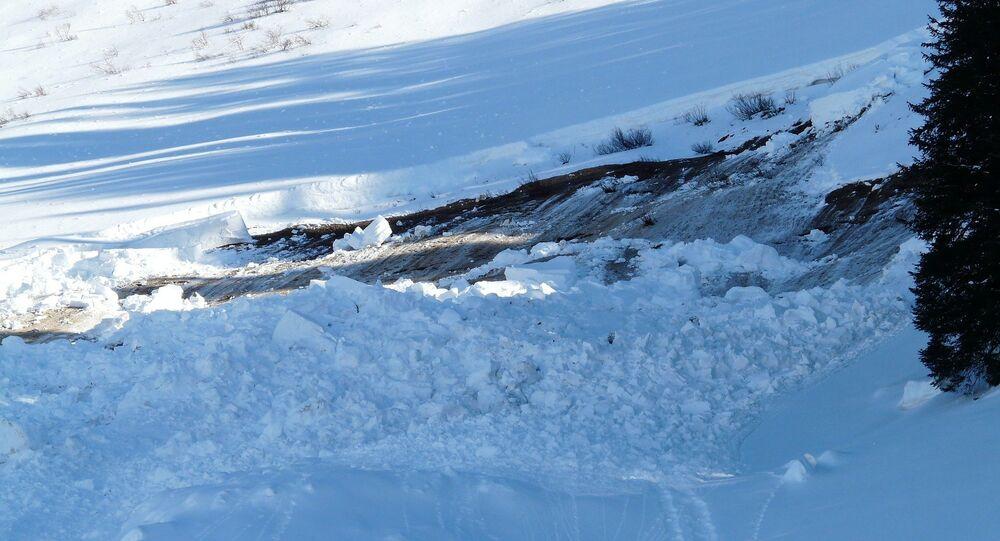 Une avalanche (image de démonstration)