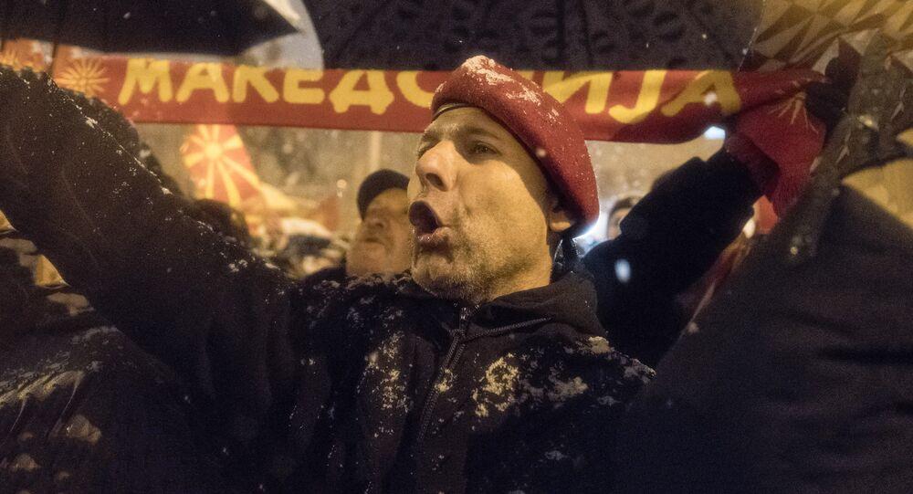 Protestations contre un possible changement de nom de la Macédoine