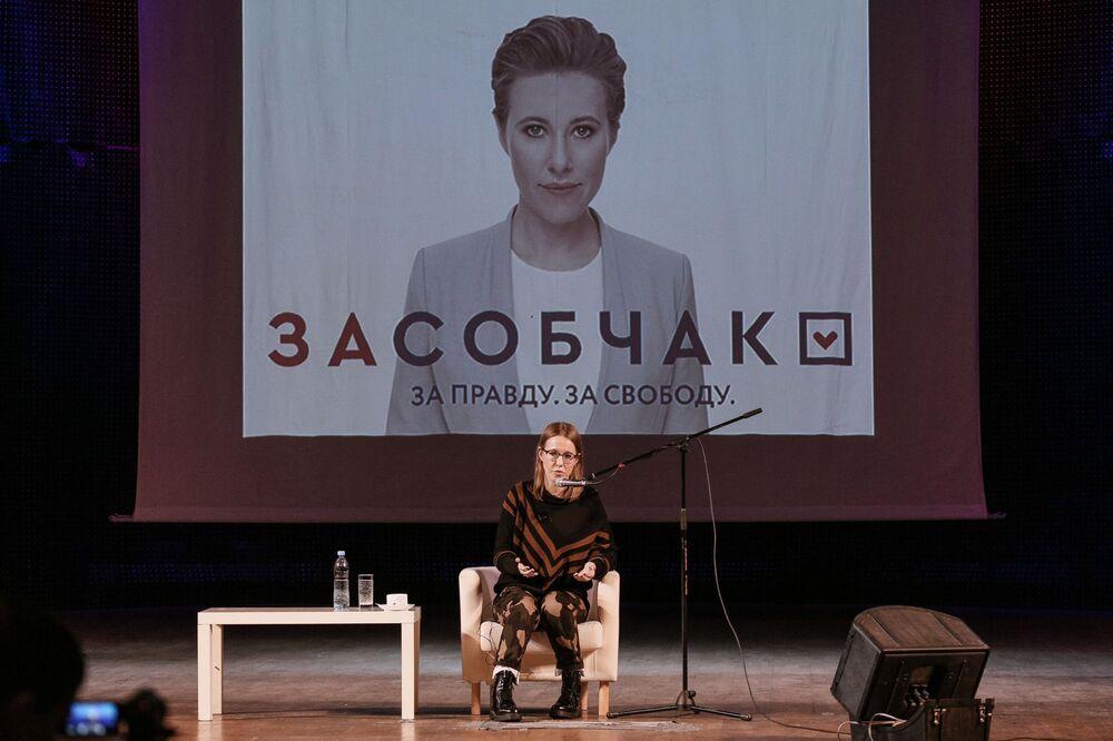 Сandidate à la présidentielle 2018 en Russie: Ksénia Sobtchak