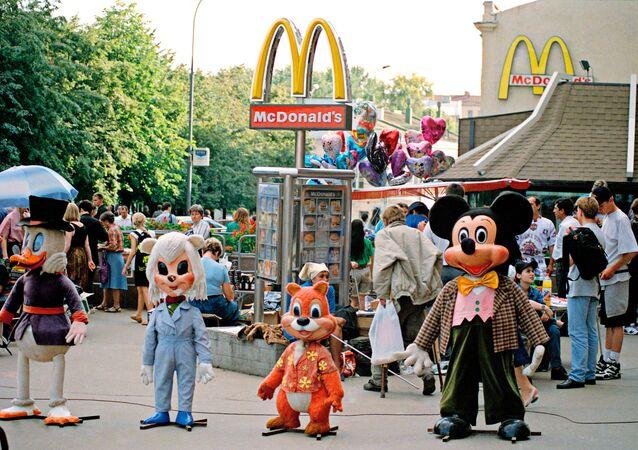 Un restaurant McDonald's à Moscou