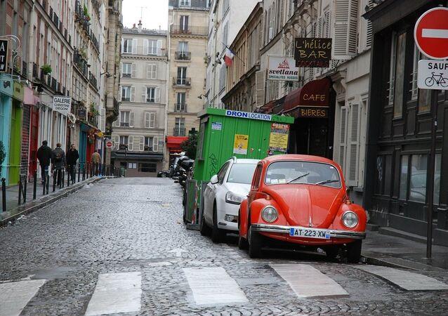 Stationnement à Paris. Image d'illustration