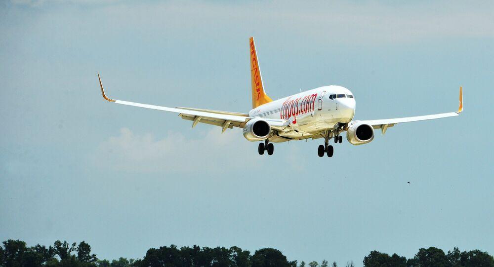 Un Boeing 737-800 de Pegasus Airlines
