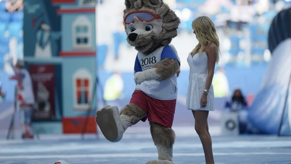 Oficjalna maskotka Mundialu w Rosji wilk Zabiwaka - Sputnik France