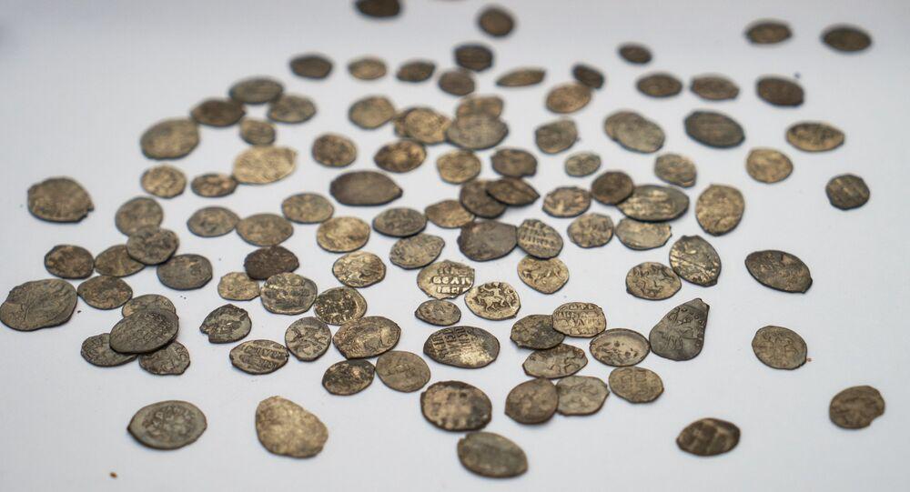 monnaies antiques, image d'illustation