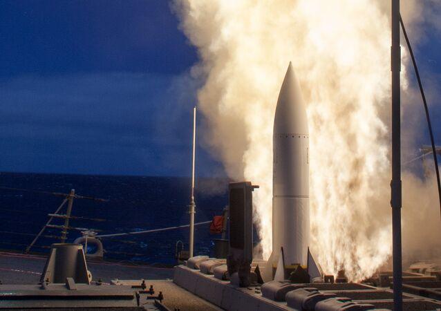 Un essai du système antimissile américain Aegis