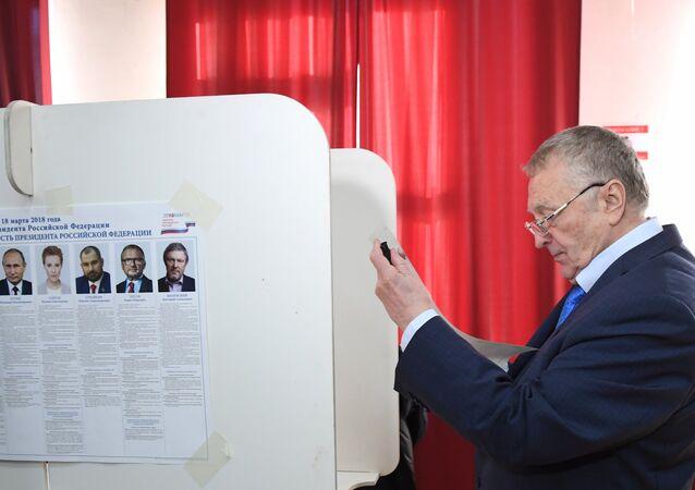 Vladimir Jirinovski, candidat du LDPR