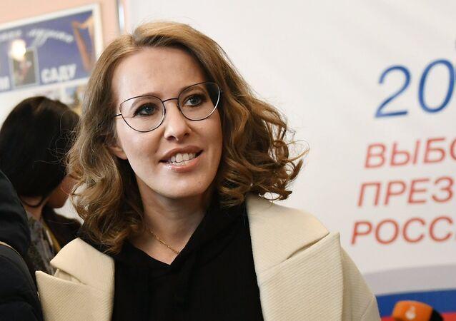 La candidate du parti Initiative civile Ksénia Sobtchak a voté à Moscou
