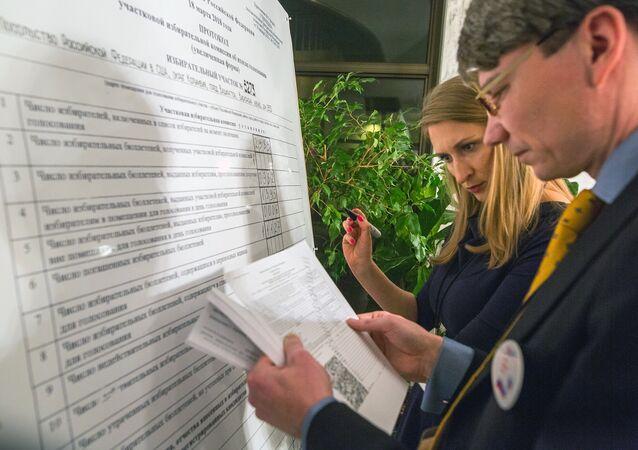 Décompte des voix à l'ambassade russe à Washington