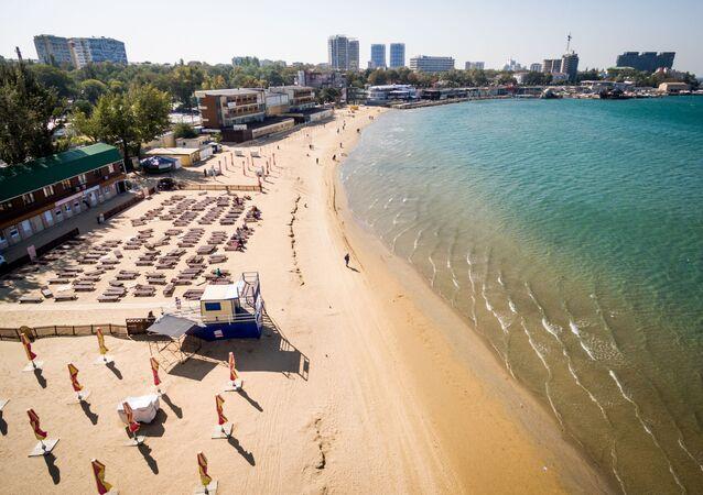 La plage centrale d'Anapa