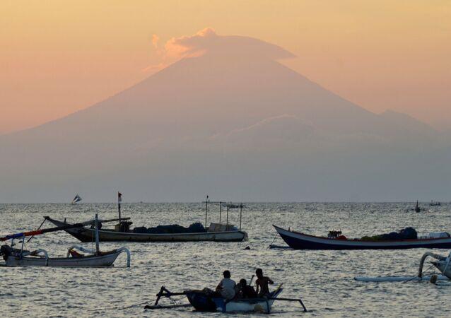 Le volcan Agung