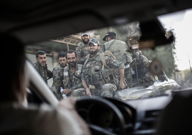 Situation dans la Ghouta orientale. Image d'illustration