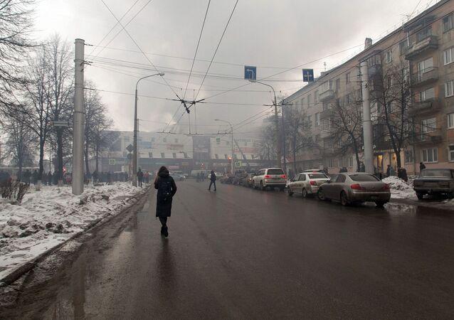 Incendie dans le centre commercial Zimniaya Vischnia («Cerise d'hiver»), dans la ville sibérienne de Kemerovo