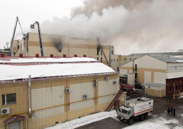 Incendie dans la ville russe de Kemerovo