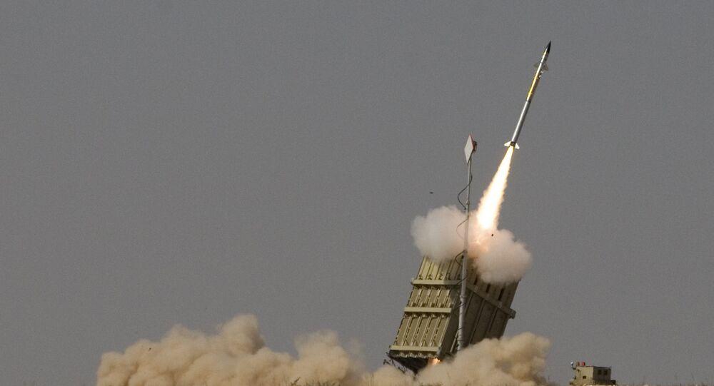 Système antimissile israélien Dôme de fer (image d'illustration)