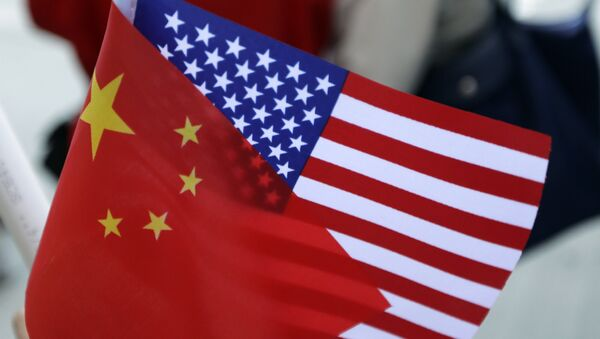 Chinese and US flags. (File) - Sputnik France