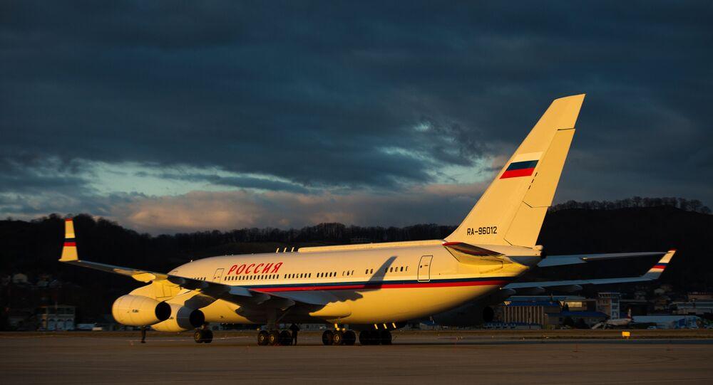 Un avion Iliouchine Il-76 de la compagnie aérienne Rossiya