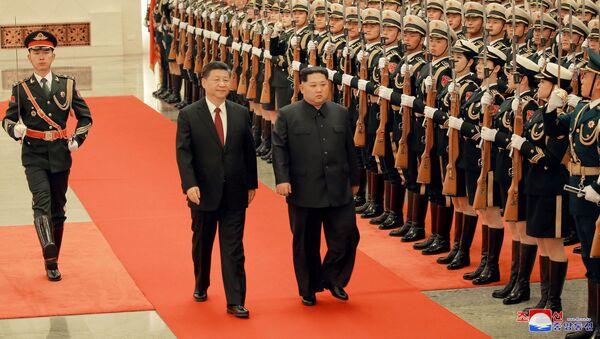 Xi Jinping et Kim Jong-un - Sputnik France