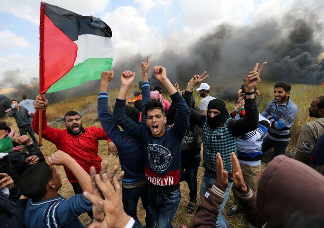 Manifestations à la frontière de Gaza