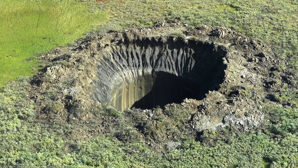 Un cratère au Yamal - Sputnik France