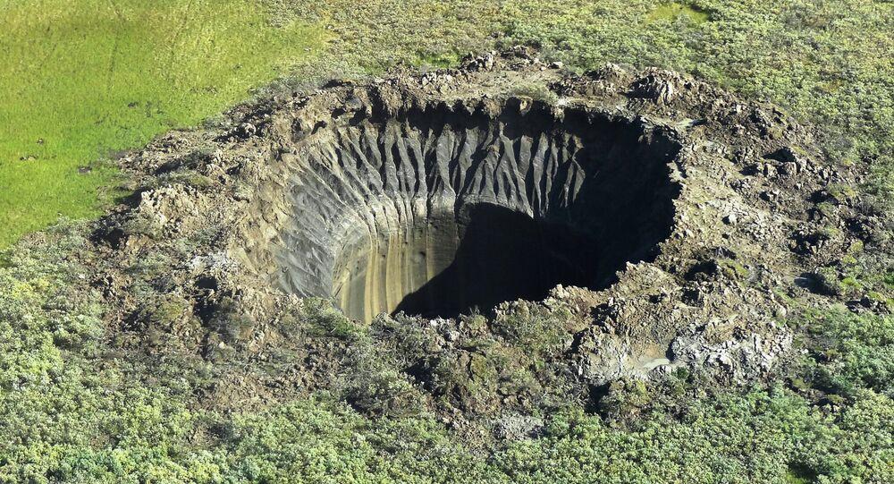 Un cratère au Yamal