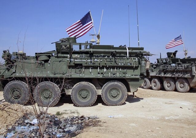 Forces américaines dans la ville de Minbej, en Syrie, en 2017