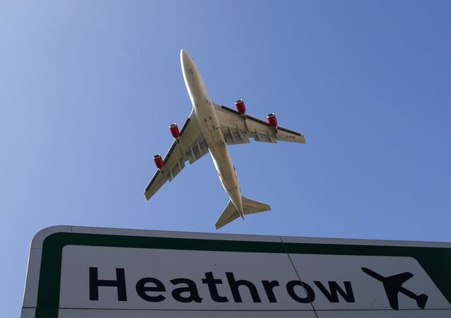 l'aéroport de Londres-Heathrow