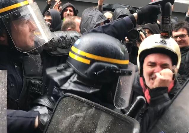 Manifestation des cheminots à Paris, 3 avril 2018
