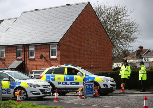 La police britannique près de la maison de Sergueï Skripal à Salisbury