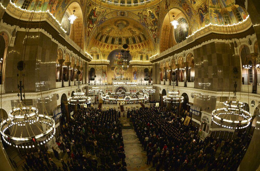 Célébration de Pâques en Russie