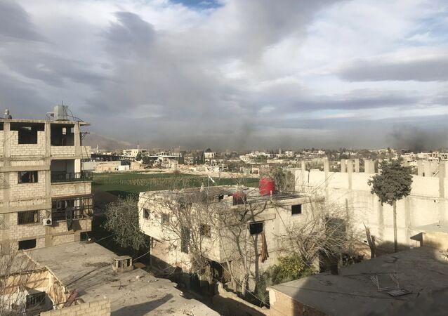 Dans la Ghouta orientale, en Syrie