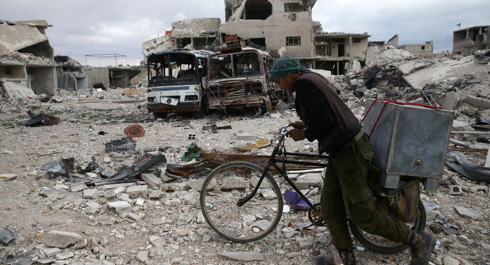 Dans la ville de Douma, en Syrie