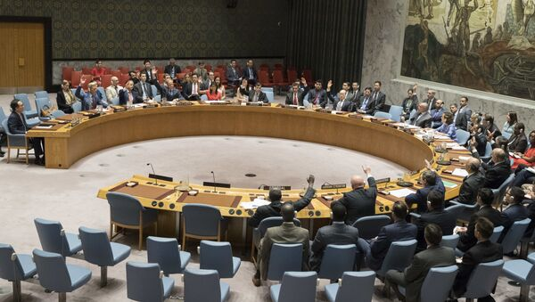 The United Nations Security Council votes on a new sanctions resolution that would increase economic pressure on North Korea to return to negotiations on its missile program, Saturday, Aug. 5, 2017 at U.N. headquarters - Sputnik France