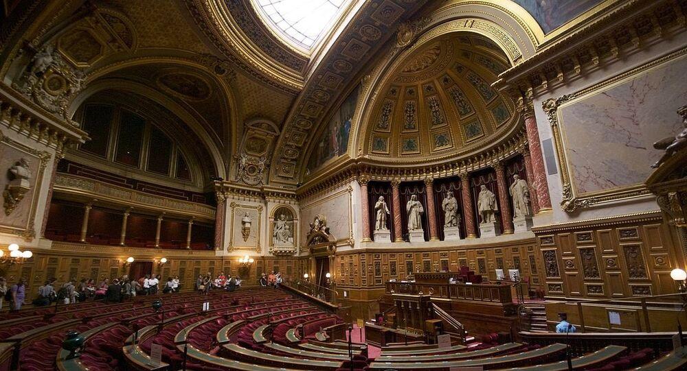 L'hémicycle du Sénat français